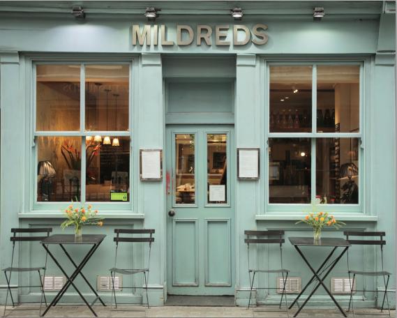 Mildreds restaurant, London